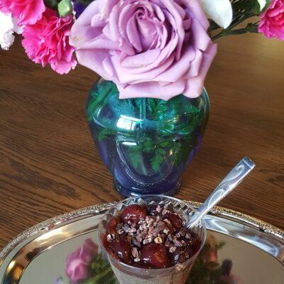 Cherry Almond Chia Pudding