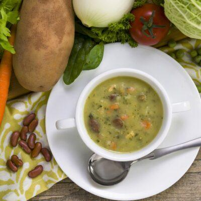 Bowl of soup on Fasting Mimicking Diet