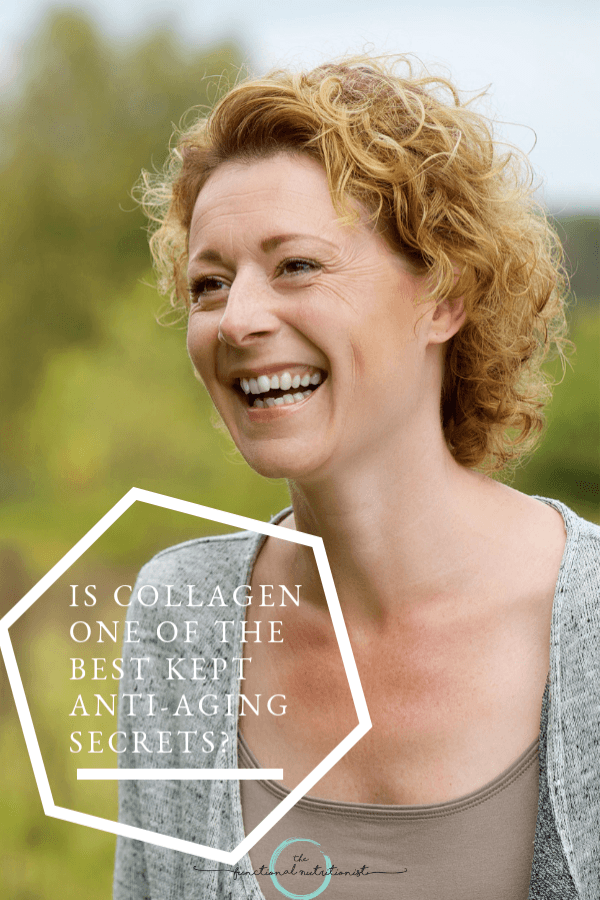 Collagen is a great supportive nutrient for the skin and joints so it's one of my top anti-aging supplement recommendations. #anti-aging #collagen #functionalnutritionist
